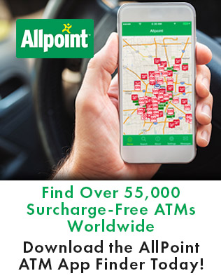 all point find over 55000 surcharge free ATMs worldwide download the app